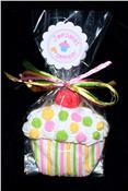 Cupcake Dots and Stripes Cookie Party Favor