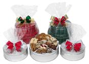 Holiday pastry and cookie tin
