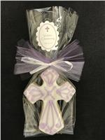 Cross Celtic Lavender - Cookie Party Favor