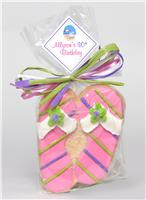 Flip Flops Pink Cookie Party Favor