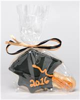 Grad Cap Black and Gold - Cookie Party Favor