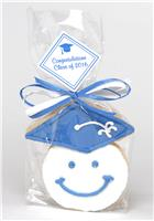 Grad Cap with Smile Face - Cookie Party Favor