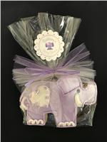 Elephant Purple - Baby Cookie Party Favor