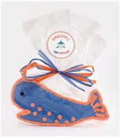 Whale Blue and Orange - Cookie Party Favor