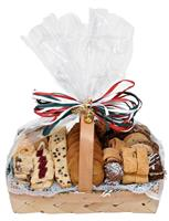 holiday pastry and cookie basket