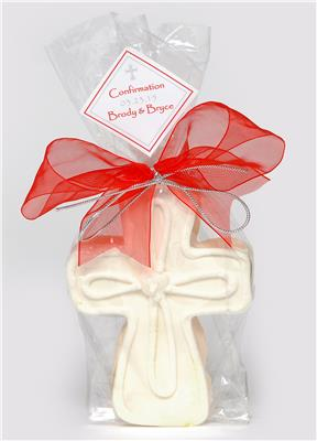 Curved Cross - Large Cookie Party Favor