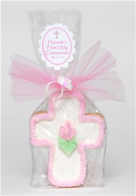 Rose Cross - Pink Small Cookie Party Favor