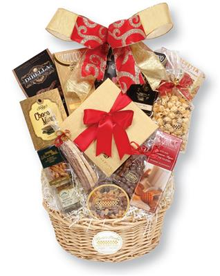 Festive Holiday Gourmet Gift Basket; Christmas Gift Baskets